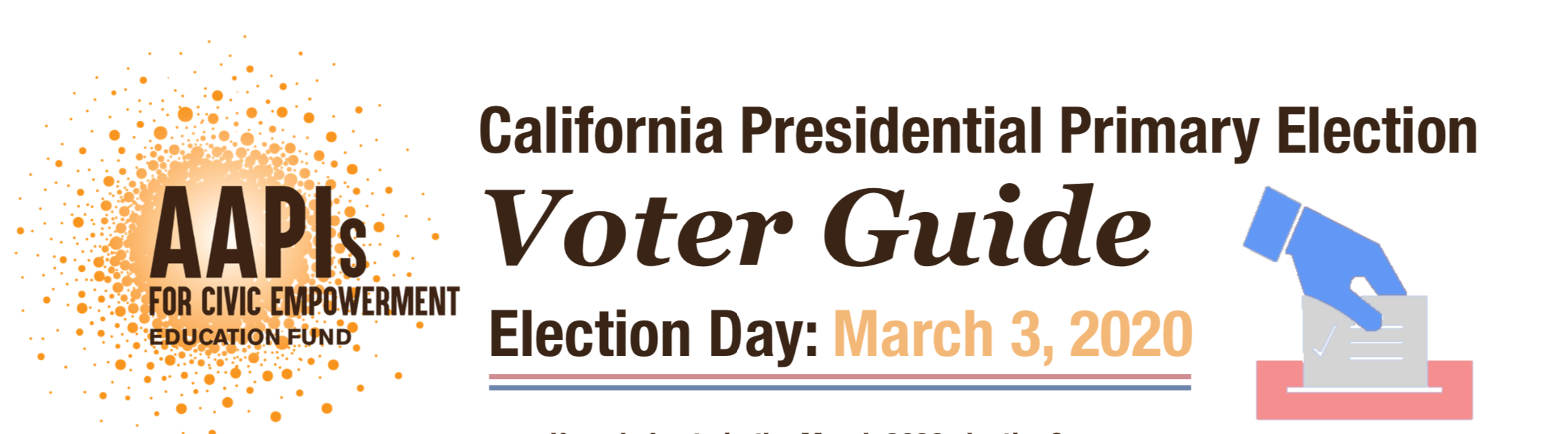 CA March 2020 Voter Guide