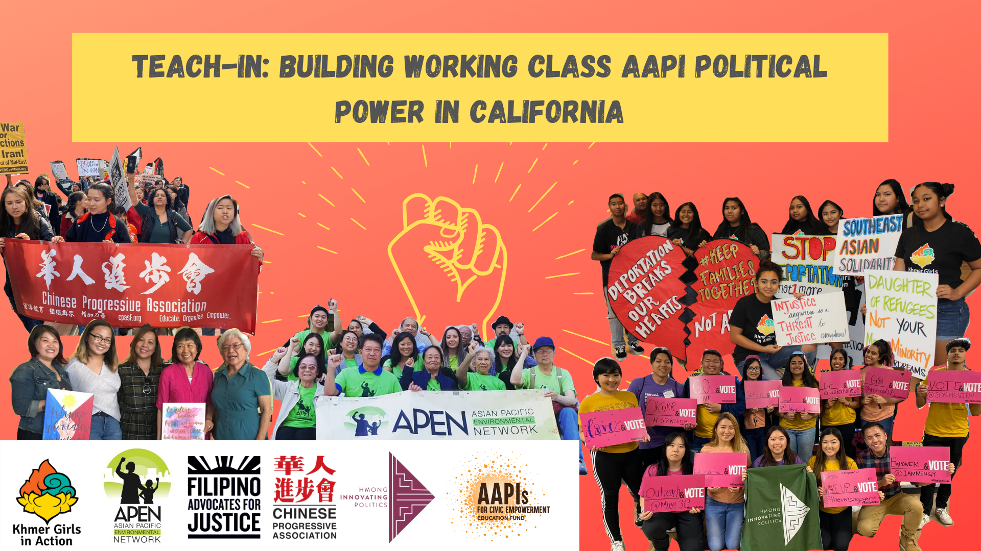 Join Our Teach In: Teach-In: Building Working Class AAPI Political Power in CA